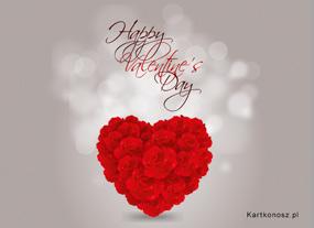 e Kartki  Walentynkowe serce,