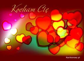 eKartki Miłość - Walentynki Wirujące serduszka,