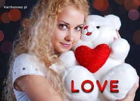 e Kartki  z tagiem: e-Kartka na Walentynki Biały miś,
