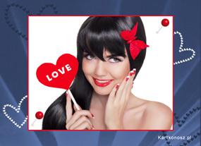 e Kartki Miłość - Walentynki e-Kartka Love,