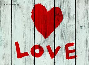 eKartki Miłość - Walentynki Kartka Love,