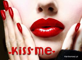 e Kartki Miłość - Walentynki Kiss Me,