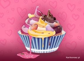 eKartki Miłość - Walentynki Muffinka dla Zakochanych,