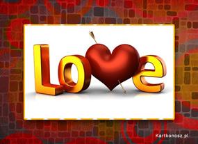e Kartki  z tagiem: e-Kartka na Walentynki Ustrzelone serce,