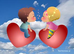 eKartki Miłość - Walentynki W niebiosach,