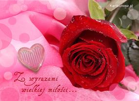 e Kartki Miłość - Walentynki Z wyrazami wielkiej miłości,