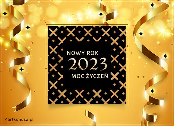 Złote życzenia na Nowy Rok 2019