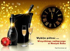 eKartki Nowy Rok Wybija północ!,