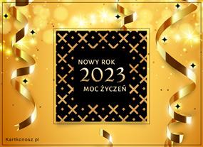 e Kartki  z tagiem: Kartki na święta Złote życzenia na Nowy Rok 2019,