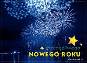 eKartki Nowy Rok Noworoczne rozbłyski,