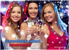 eKartki Nowy Rok Szampańskiej zabawy noworocznej,