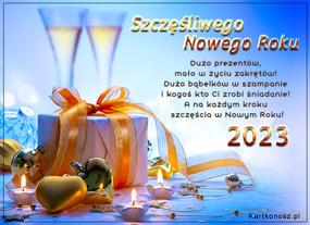 eKartki Nowy Rok Bąbelków w szampanie,
