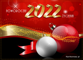 Kartka z noworocznymi życzeniami
