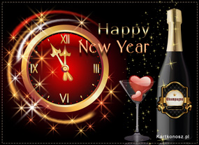 e Kartki Nowy Rok Miłość w Nowy Rok,