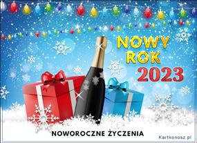 Mrożony noworoczny szampan