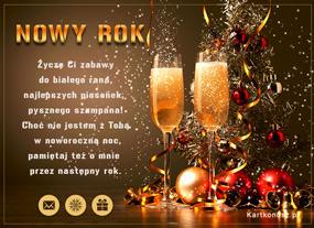 eKartki Nowy Rok Pysznego szampana,