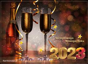 e Kartki Nowy Rok W szampańskim stylu,