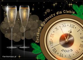 eKartki Nowy Rok Życzenia o północy,