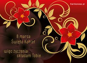 e Kartki Z okazji Dnia -> Dzień Kobiet 8 marca - Święto Kobiet,