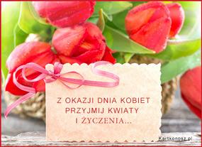 eKartki Z okazji Dnia Bukiet z życzeniami,