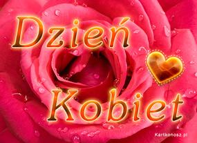 e Kartki Z okazji Dnia -> Dzień Kobiet Róża dla pięknej Kobiety,