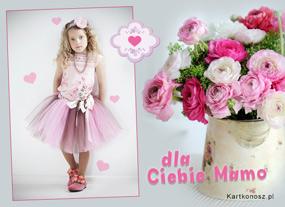 e Kartki  z tagiem: Dzień Matki kartki Kwiatuszki dla Mamy,