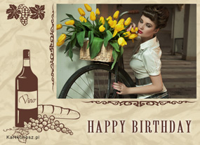 e Kartki Z okazji Dnia -> Urodziny Retro urodziny,