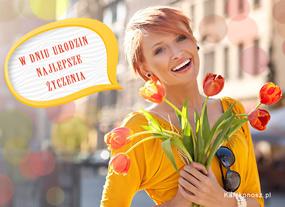 eKartki Z okazji Dnia Urodzinowe tulipany,