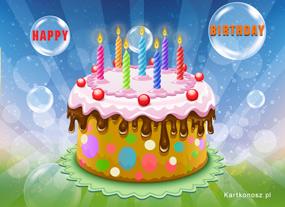 eKartki Z okazji Dnia Wspaniały tort,