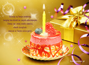 e Kartki  Życzenia urodzinowe,