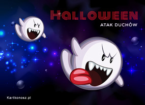 eKartki Halloween Atak duchów,