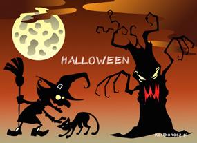e Kartki Halloween Igraszki w Halloween,
