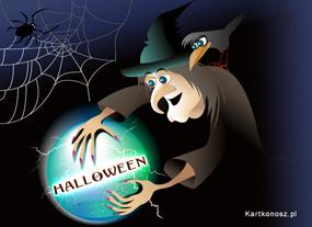 eKartki Halloween Kartka z Wiedźmą,