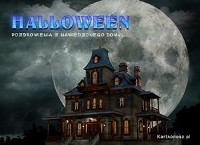 eKartki Halloween Nawiedzony dom,
