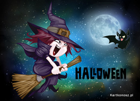 eKartki Halloween Podniebna czarownica,