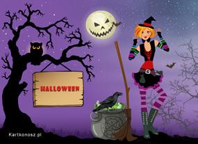 eKartki Halloween Słodka czarownica,