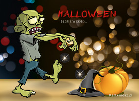 eKartki Halloween Zabawa z Zombie,