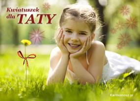 eKartki Z okazji Dnia Kwiatuszek dla Taty,