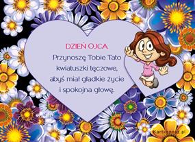 e Kartki  z tagiem: Kartki na Dzień Ojca Kwiatuszki tęczowe dla Taty,