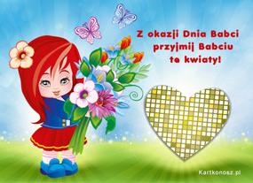 eKartki Z okazji Dnia Kwiaty dla Babci,