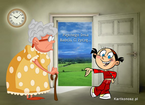 eKartki Z okazji Dnia Pięknego Dnia Babci,
