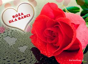 eKartki Z okazji Dnia Róża dla Babci,
