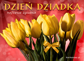 eKartki Z okazji Dnia Tulipany dla Dziadka,