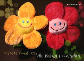 eKartki Z okazji Dnia Wesołe kwiatuszki,
