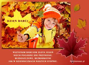 eKartki Z okazji Dnia Złota jesień dla Babci,