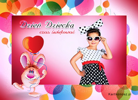 e Kartki  z tagiem: Darmowe e-kartki na Dzień Dziecka Czas świętować,