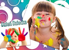 eKartki Z okazji Dnia Kolorowe dzieci,