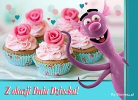 e Kartki  z tagiem: Darmowe e-kartki na Dzień Dziecka Muffinki na Dzień Dziecka,
