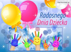 eKartki Z okazji Dnia Radosnego Dnia Dziecka,