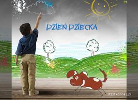 eKartki Z okazji Dnia Świat dziecka,